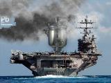 Самовароносец Адмирал Кузнецов проходит Ла - Манш.