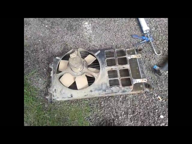 Замена радиатора в Сеат Толедо на радиатор от Фольксваген Гольф 2