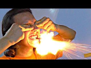 СТРЕЛЯЮ ИЗО РТА как из ружья! Взрыв петарды во рту, ухе и руке. Испытание опасности питард на себе