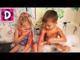 Вся Ванная в КРАСКАХ!!! Рисуем в ванной! Цветное Мыло для Детей Бэтмен Немо краски ✿ Kids Diana Show
