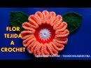 Flor tejida a crochet fácil y rápido para tejer Bolsos paso a paso en video tutorial