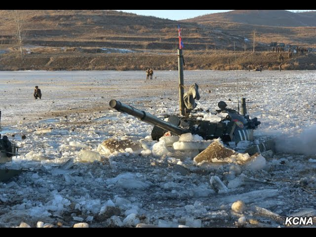 North Korean river crossing exercise of the KPA's 105th elite tank unit