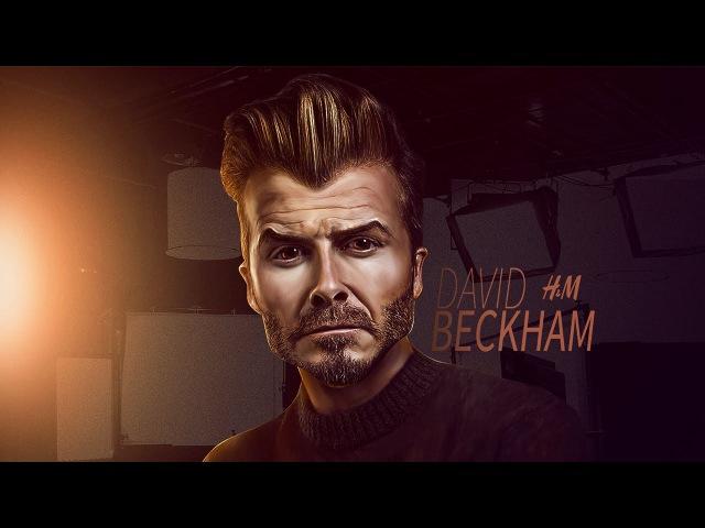 Photoshop Caricature Design David Beckham
