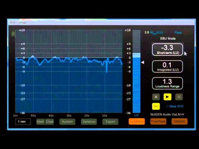 EN Mastering Engineer Tischmeyer presents Nugen Audio VisLM-H R-128 Loudness Meter