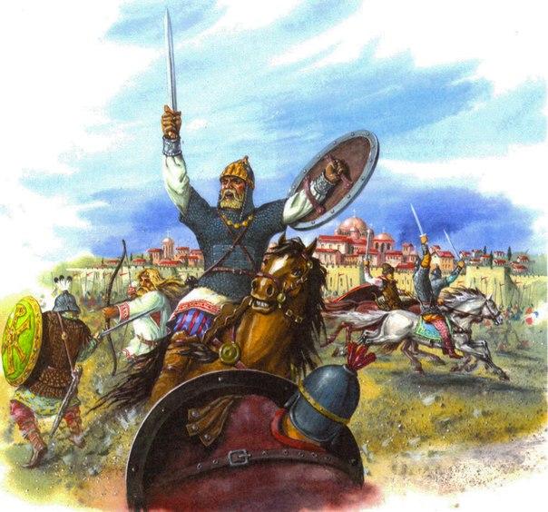 Русоволосы у ворот Царьграда (Константинополя), X век