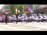 Луганск.1 мая,2017.Многотысячный первомайский парад трудящихся в Луганске.