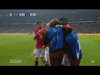 Бавария - Арсенал. Гол Тьяго