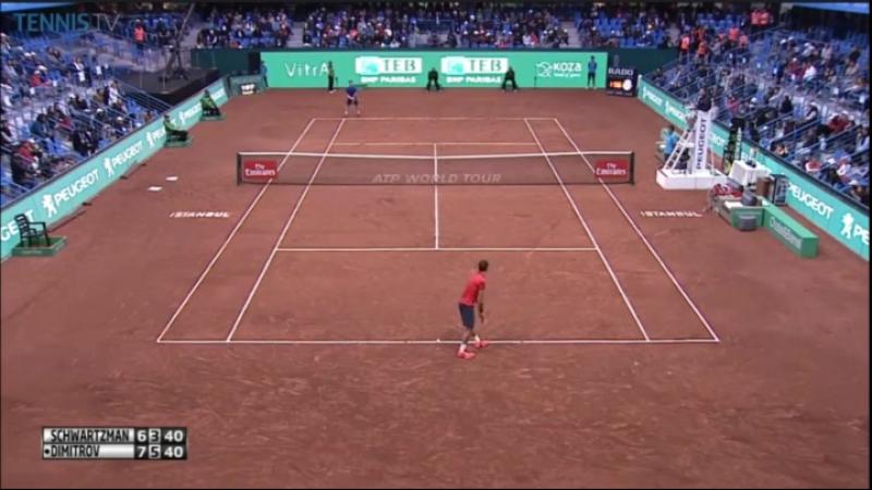 Grigor Dimitrov vs. Diego Schwartzman 7-6(5), 6-7(4), 0-6 TEB BNP Paribas Istanbul Open (F) 01.05.2016.