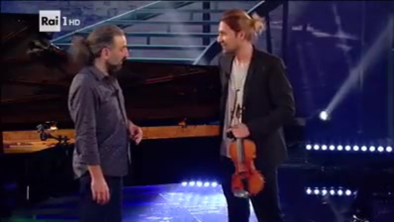 Antonio Bazzini - La ridda dei folletti. DavidGarrett and StefanoBollani on TV Rai1