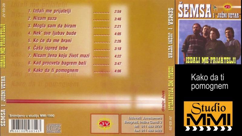 Semsa Suljakovic i Juzni Vetar - Kako da ti pomognem (Audio 1990)