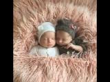 Новорожденные двойняшки Эмилия и Арина