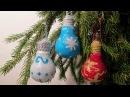 Новогодние игрушки из лампочек. Новогодние поделки