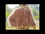 SUPERTANYA brown V neck mohair cardigan