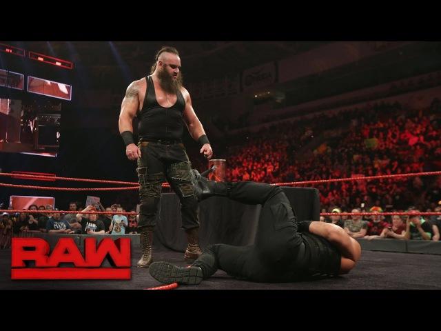 [WBSOFG] Roman Reigns and Braun Strowman sign their WWE Fastlane contract: Raw, Feb. 27, 2017