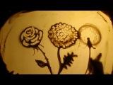 Урок песочной анимации простое рисование цветов