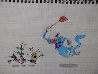 How to draw oggy and the cockroaches/ Как нарисовать Огги и тараканов 82