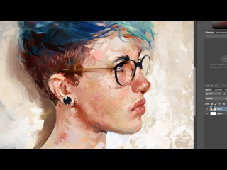 Blue Hair - Painting a Digital Portrait in Photoshop