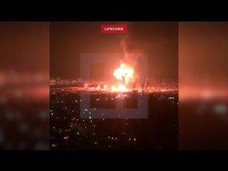 Момент взрыва на заправке в Махачкале