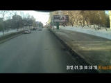 Автобус подрезал троллейбус на Красном