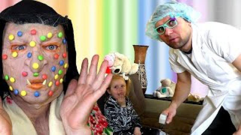 Игра доктор Зубной врач Лечит Бабу Ягу Ставим Уколы в Попу Стоматолог Play the Doct