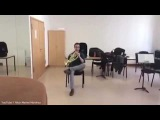 Ingenius duet played with a French horn and a CHAIR