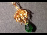Bell flower pendant - How to make wire jewelery