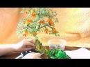 Дерево из бисера Декорирование подставки и ствола Мастер класс № 14