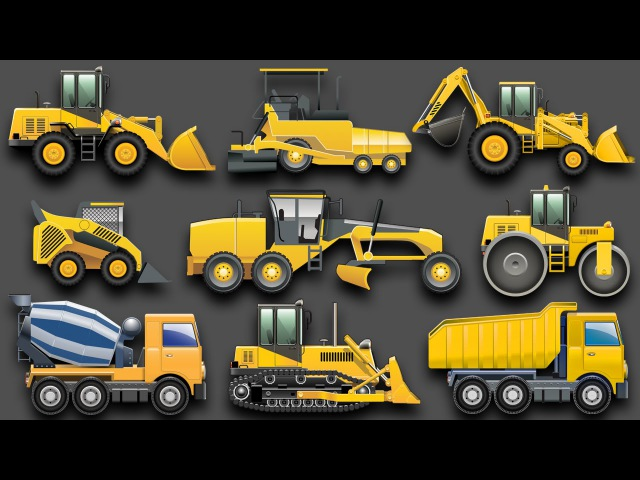 Learning Construction Vehicles for Kids Construction Equipment Bulldozers Dump Trucks Excavators