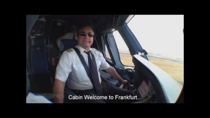 Pilotseye.tv - Lufthansa A380 Descent and Landing - Frankfurt [English Subtitles]