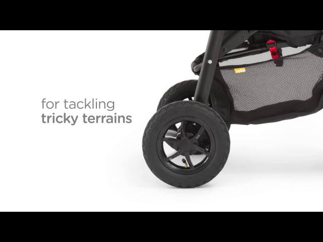 Joie Litetrax Air - прогулочная коляска с надувными колесами