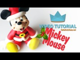 How to make a Mickey Mouse Santa for Christmas - Cake Decorating Tutorial