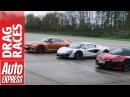 McLaren 540C vs Honda NSX vs Nissan GT R drag race plucky Brit takes on Japanese beasts