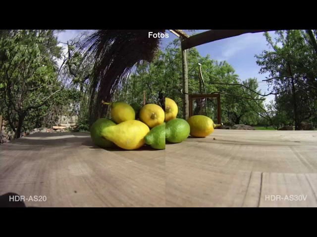 SONY action cam HDR-AS20 VS HDR-AS30V test