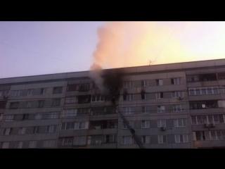 Красноярск. Пожар на ул. Ладо Кецховели 9 июня 2016