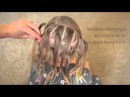 How To: Criss-Cross (Zig-Zag)  Ponies into a Side Messy Bun