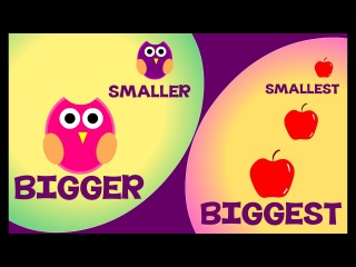 Bigger and Smaller & Biggest and Smallest | Comparison for Kids | Learn Pre-School Concepts