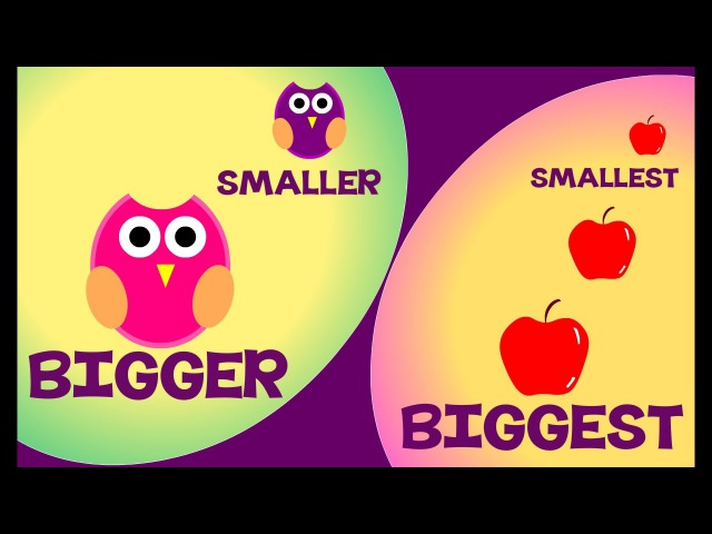 Bigger and Smaller Biggest and Smallest | Comparison for Kids | Learn Pre-School Concepts