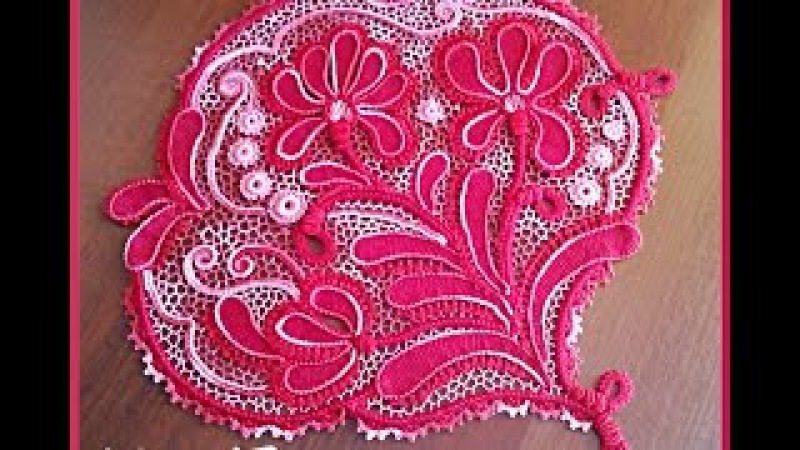 Ирландское кружево - Мастер-класс Ирисы - часть 1. Irish lace crochet.