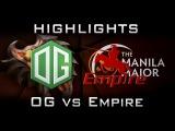 OG vs Empire Manila Major Highlights Dota 2