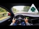 Alfa Romeo Giulia Quadrifoglio QV ACCELERATION TOP SPEED POV on Autobahn Test Drive