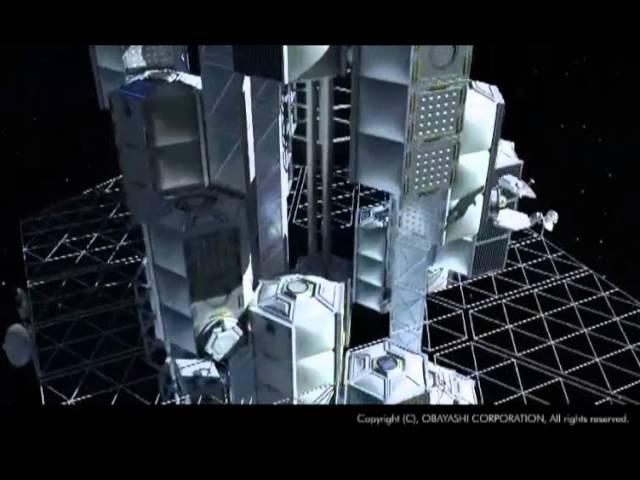 Космический лифт построят японцы к 2050 году, концепт компании Obayashi