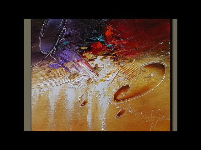 Acrylic Abstract Painting Art Demonstration Techniques 21/02/2017