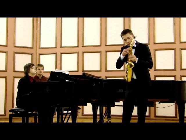 P Hindemith saxophone Sonata Nikita Zimin