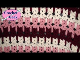 How to make #Crochet Abstract Cats Pussy Blanket #157 Tutorial Free Online Class