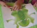 Видео для детей Аппликация уточка и лягушка