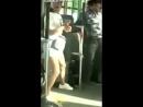 Девушка дала отпор грабителю, вор в автобусе