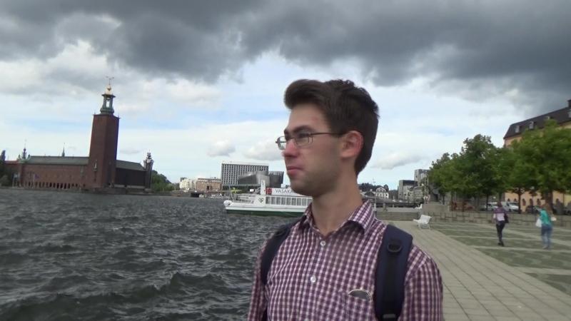 На озере Меларен с видом на ратушу