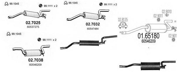 Глушитель выхлопных газов конечный для ALFA ROMEO 33 Sportwagon (907B)