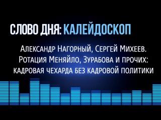 Слово Дня. №153. Ротация Меняйло, Зурабова и прочих: кадровая чехарда без кадровой политики.