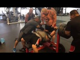Ryan Kennelly bench press 700 lbs x 2 reps  318 kg  Jul 12, 2016